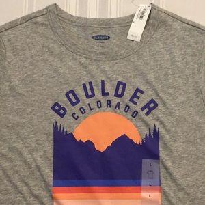 NWT Old Navy Boulder Colorado crew neck tee shirt